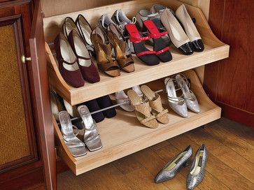 Hunt Club Valet   Traditional   Closet   Houston   Cabinet Innovations    Pull Out Shoe. Storage ...