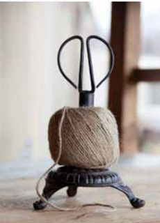 Cast Iron Stand Twine Holder and Scissors - traditional - desk accessories - other metro - by Farmhouse Decor
