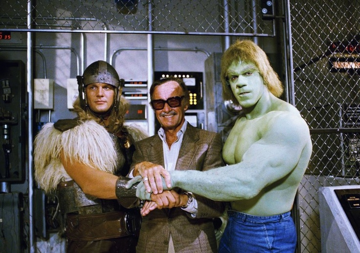 Stan with the old Thor and old Hulk.