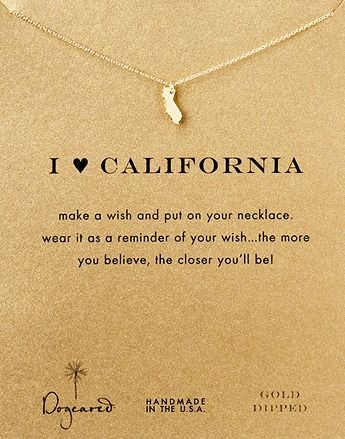 dogeared california necklace #Cali #LOVE