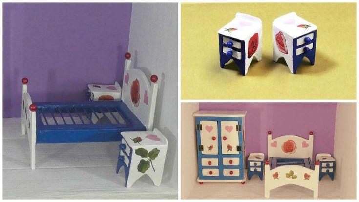Muebles diy para casas de mu ecas mesitas de noche - Casas de manualidades ...