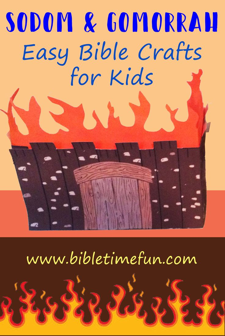 Children S Bible Lessons Sodom And Gomorrah Craft For