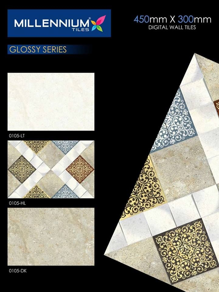 Pin By Millennium Tiles Europe On 300x450mm 12x18 Digital Ceramic Glossy Wall Tile Series Digital Wall Wall Tiles Tiles