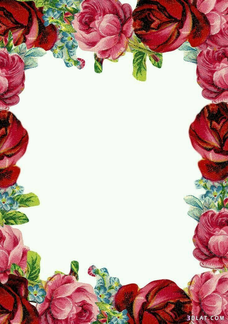 اطارات ورود فارغه للتصميم اجدد الاطارات والبراويز للكتابه عليها2019 Scrapbook Printables Free Floral Stationery Flower Phone Wallpaper