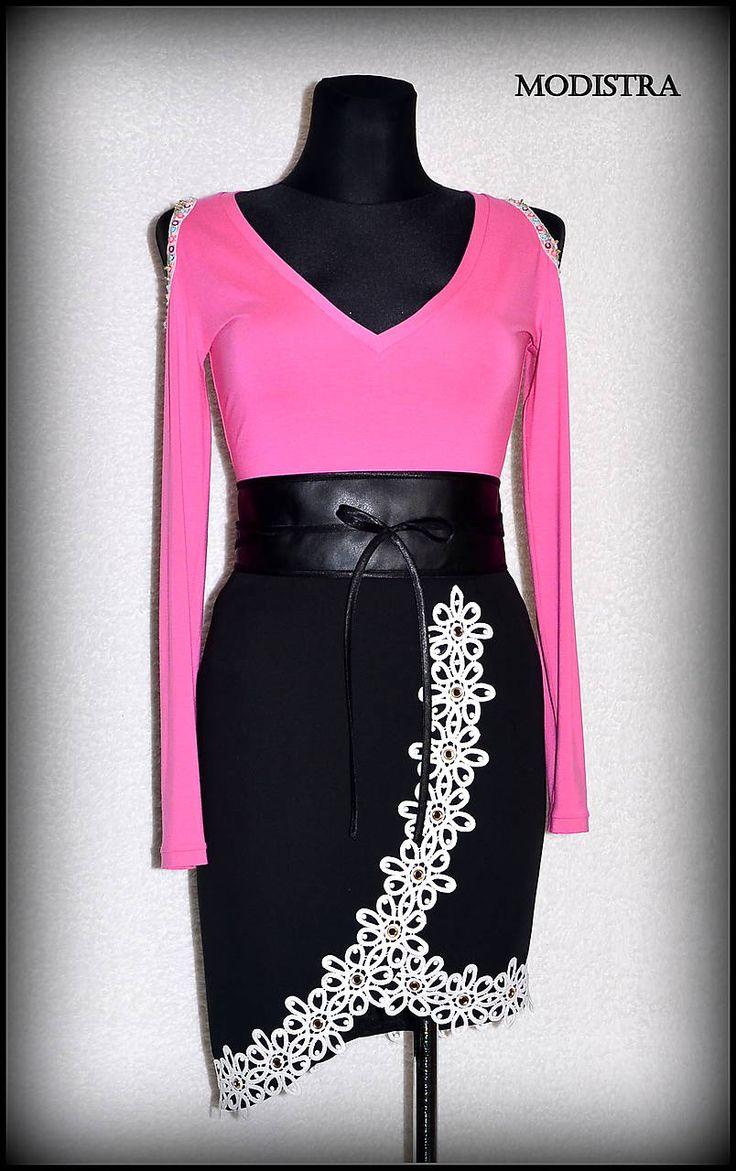 Sukne - Čiernobiela sukňa - 8212295_