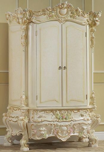 Shabby Chic ~ gorgeous ornate wardrobe