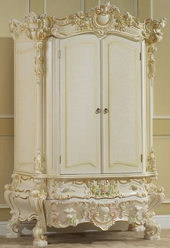 Shabby Chic ~ gorgeous ornate wardrobe