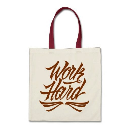 Work Hard Canvas Bag #motivational #lettering #LetterHype
