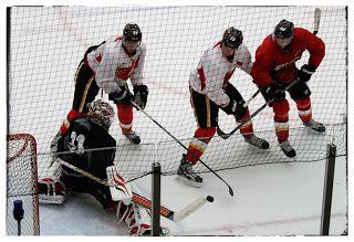 Calgary Flames training camp 4.
