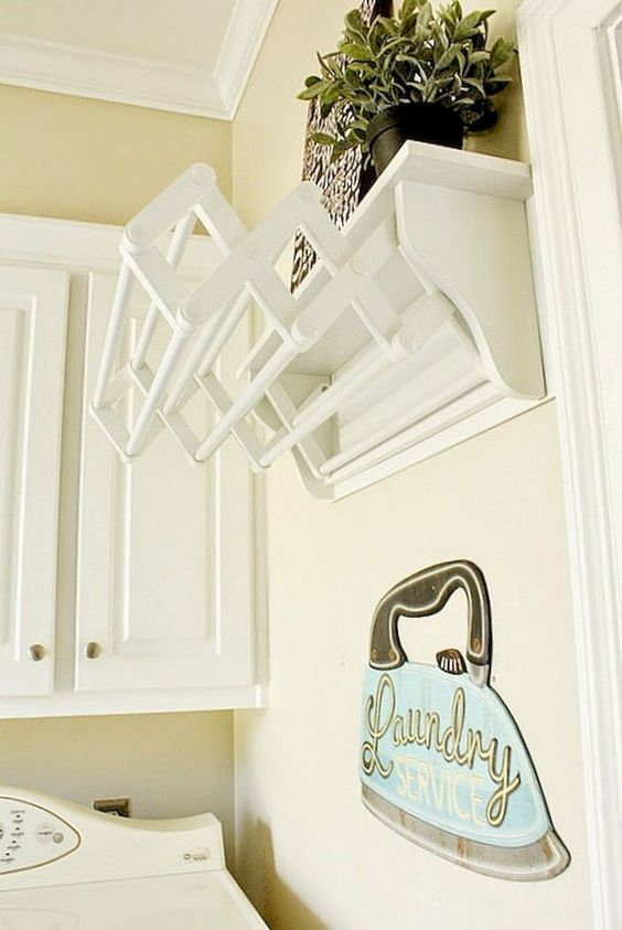 Small laundry room storage and organization ideas (58)