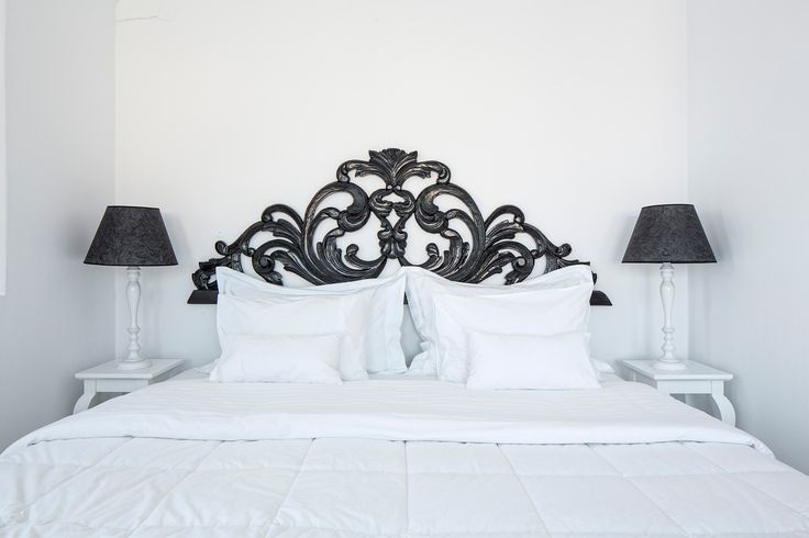 Sleep like royalty in one of Canaves Oia Villa's super comfortable luxurious bedrooms!