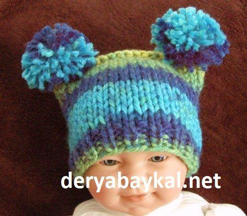 ponponlu-bebek-şapkası