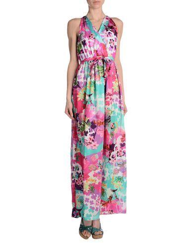 ¡Cómpralo ya!. BLUMARINE BEACHWEAR Vestido de playa mujer. crepé, cinturón, estampado floral, interior sin forro , vestidoinformal, casual, informales, informal, day, kleidcasual, vestidoinformal, robeinformelle, vestitoinformale, día. Vestido informal  de mujer color violeta rojizo de BLUMARINE BEACHWEAR.