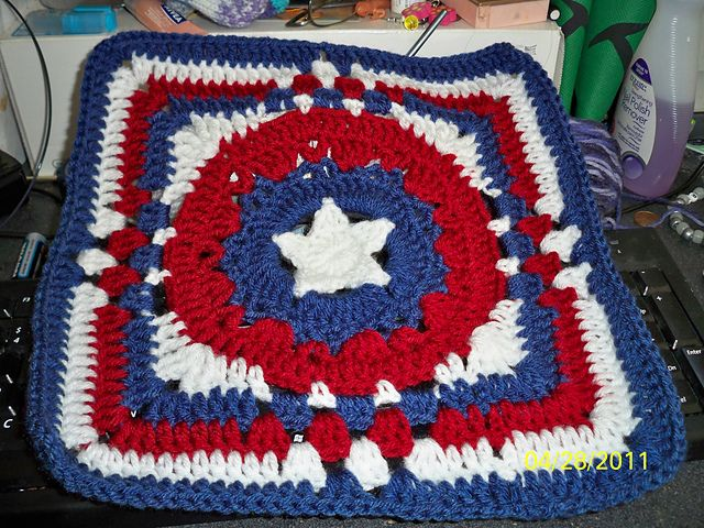 Patriots Crochet Afghan Pattern Free : 17 Best images about Red White and Blue Crochet on ...