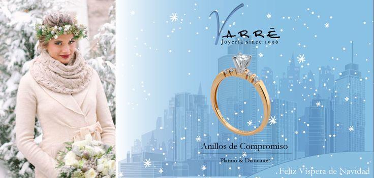 El Arte de Ammar ♥   Argollas de Matrimonio Oro & Platino / Anillos de Compromiso Platino & Diamante... Feliz Víspera de Navidad... #navidad #momentos #míercoles #tbt #joyería #diciembre #amor
