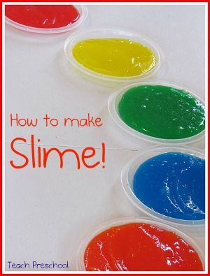 Colorful slime fun for kids....