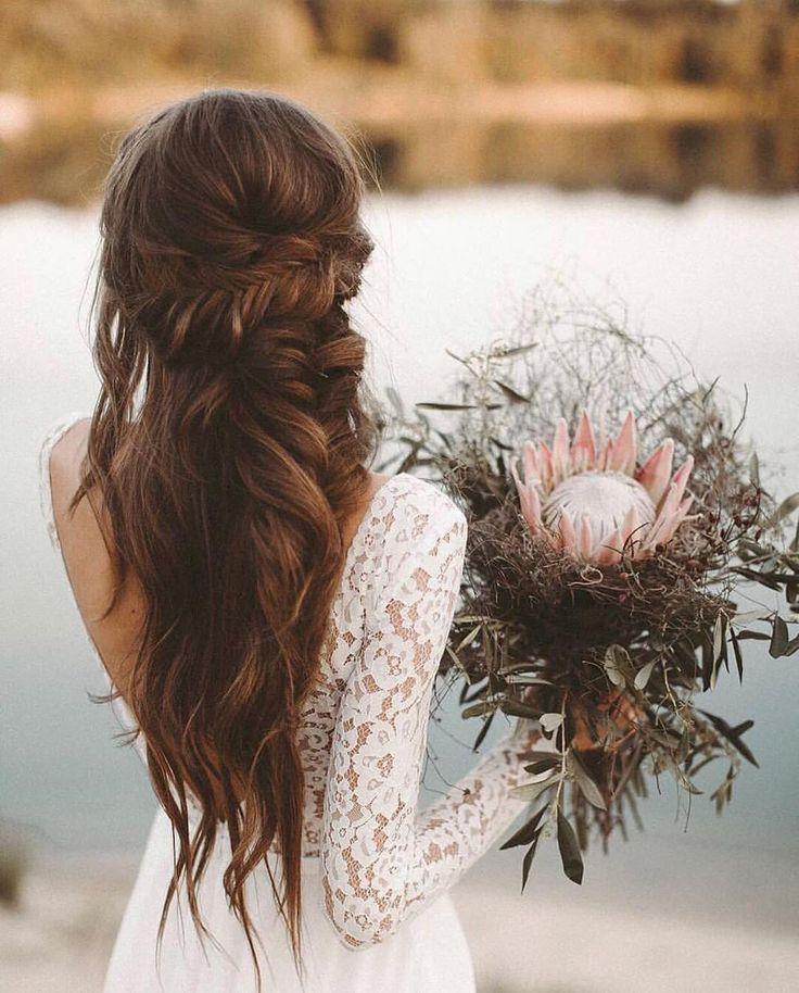 """PureWow Weddings 💍👰🏻 on Instagram: """"Super-long hair and mermaid waves…"""