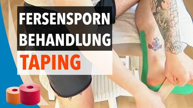 Ferse tapen - Fersensporn Kinesiologie Tape - Ferse selbst tapen Anleitung
