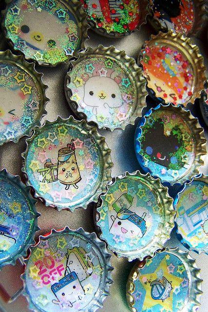 Embellishments-kawaii bottlecap project @Lydia Squire Squire Squire Dibben              / embellishment