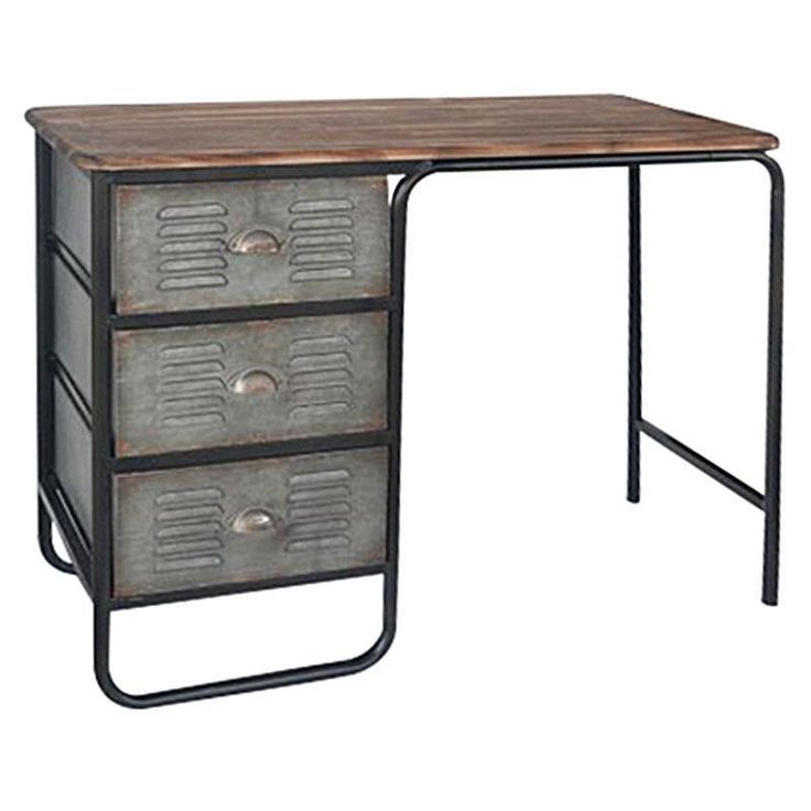 Great #industrial style desk with combination of metal and wood