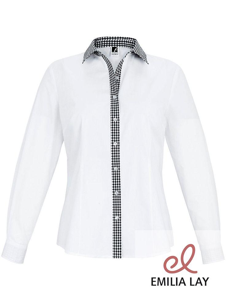 Schwarz küsst Weiß bei der stylischen Bluse von Anna Aura!