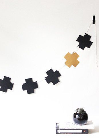 Black & Gold Cross Garland.  Available at www.theprettybaker.co.nz