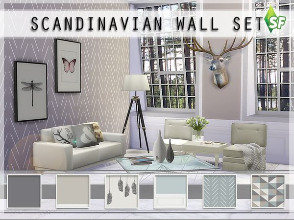 Scandinavian Wall Set By Simfabulous At Tsr Sims 4