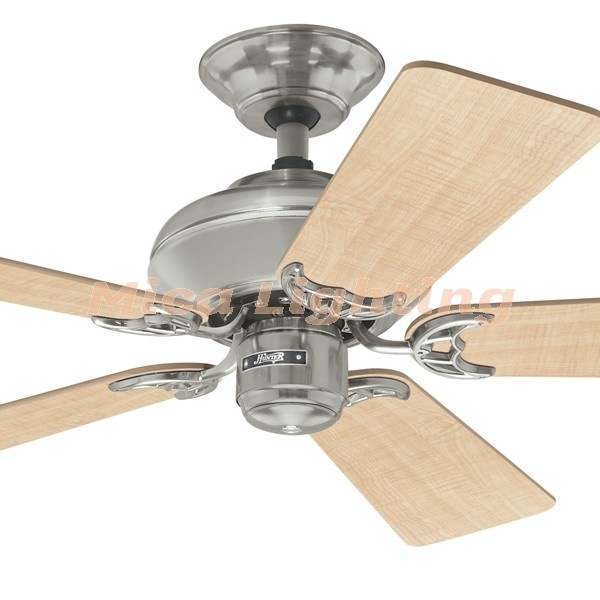 Builder Select 42 Timber 5 Blade Ceiling Fan Brushed Nickel | Alfresco Ceiling Fans