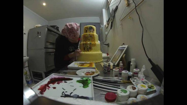 """""""El Beso"""" de Gustav Klimt versión Torta de Novios."""