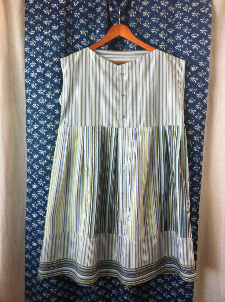 Stitch by Farr: reconstructed garments. Made from three men's shirts.  This is my Daniela Gregis style dress - very wide and lots of pleats.