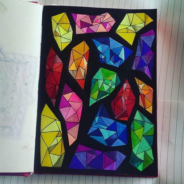 #artsy #art #drawing #draw #artsyfartsy #colorful #color #colors #diamonds #diamond #feltpens #marker #gemstone #gemstones #sharpieart #sharpie #gellyrolls #gelpens #gelpen #stabilo68 #stabilopens #stabilo #myart