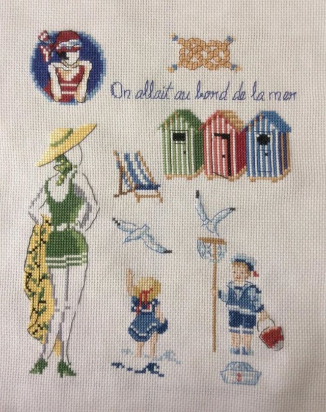 1000 images about seaside stitches on pinterest punto cruz cross stitch and counted cross - Veronique enginger grille gratuite ...