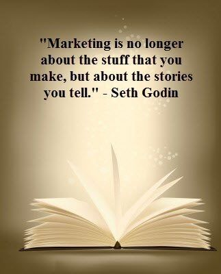Tell stories when writing content & engage with consumers. #socialmedia #inspiration