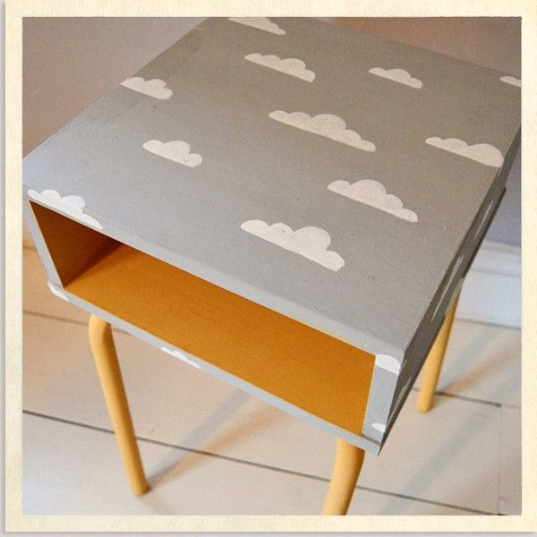 Retro Children's Hand-Painted Bedside Table by Kate Penrose