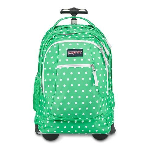 JanSport Driver 8 Backpack - Seafoam Green/White Dots