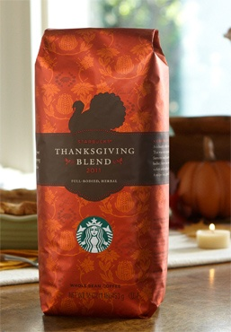 Feeding my coffee addiction lately:  Starbucks® Thanksgiving Blend.  Because not everything I post is alcoholic.