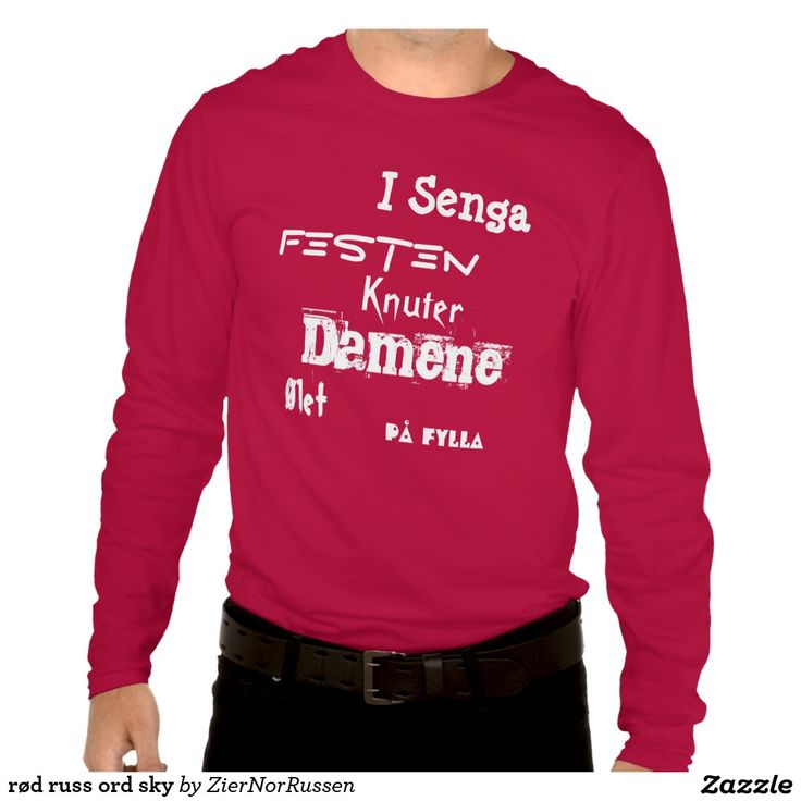 rød russ ord sky t-shirt
