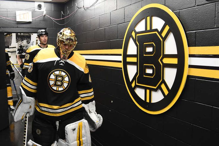 BOSTON, MA - DECEMBER 31: Tuukka Rask #40 of the Boston Bruins leads the team out to warm up before the game against the Buffalo Sabres at the TD Garden on December 31, 2016 in Boston, Massachusetts. (Photo by Steve Babineau/NHLI via Getty Images)