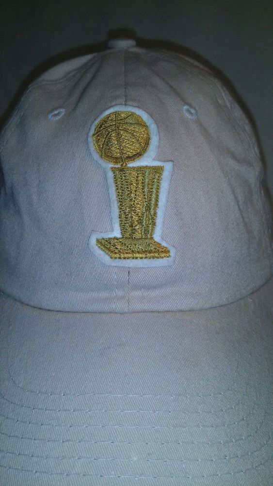 Vintage 2005 NBA Finals Strapback Hat Adjustable Khaki Hidden Message Under Brim #NBA