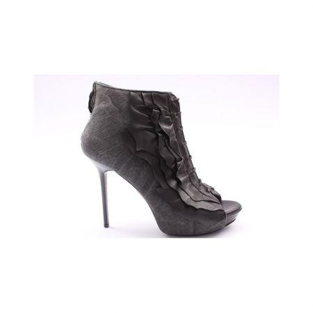 JUST CAVALLI High Heels schwarz, Gr.36 - Echtleder - zum Outletpreis bei www.designertraum.com
