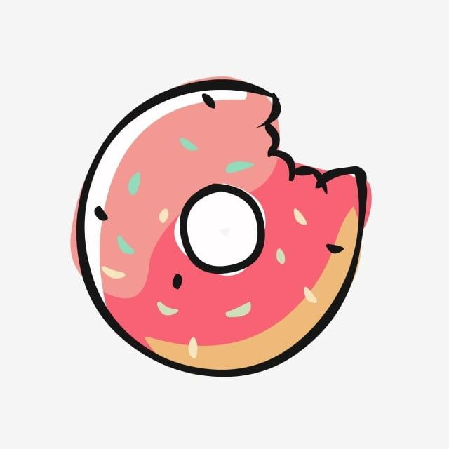 Food Elements Hand Drawn Cute Cartoon Gourmet Donuts Food Clipart Food Element Hand Drawn Food Png And Vector With Transparent Background For Free Download Food Cartoon How To Draw Hands Food