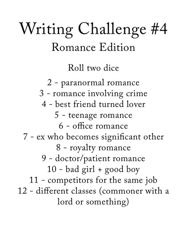 Writing a romance | Writing inspo | Daily writing prompts