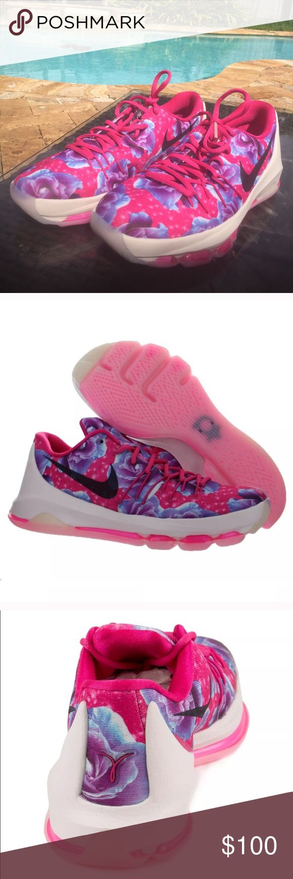 Kevin Durant Aunt Pearls Kay Yow Sneakers Aunt Pearl K 8 Breast Cancer Awareness Sneakers. Think Pink. These are brand new without a box. They are a size 7 youth which is equivalent to a Woman's size 9. NWOT Nike Shoes Sneakers