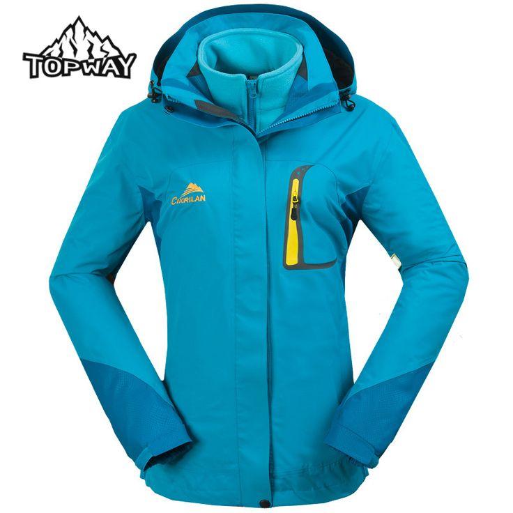 New Fashion Women's Windbreaker Winter Coat Jacket Outdoors Snow Waterproof Breathable two-in-one Lady Jackets CKL2266