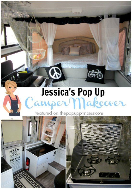 Jessica's Pop Up Camper Makeover - The Pop Up Princess:  What a great little getaway spot.  I love this makeover!