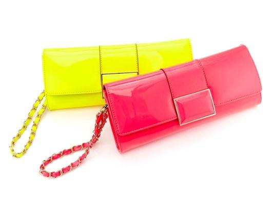 neon clutches!