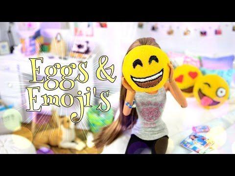 How to Make Felt Eggs & Emoji's - Doll Crafts - YouTube