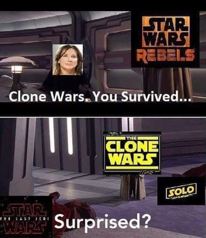 Clone Wars Saved Clonewars Starwarsclonewars Clonewarssaved Starwars Prequels Starwarsprequels Mem Star Wars Facts Funny Star Wars Memes Star Wars Humor