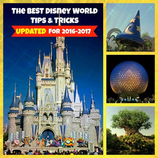 The Best Disney World Tips and Tricks UPDATED for 2016 and 2017 vacations! How to save yourself time, money, and lower your stress level when planning your Disney World vacation!