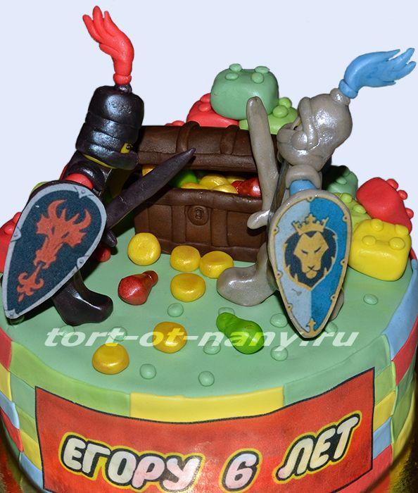 Торт Лего Рыцари